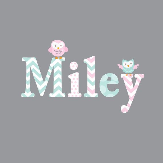 Childrens Name Owl Wall Decal Girls Name Vinyl with by Modernwalls, $45.00https://www.etsy.com/shop/Modernwalls