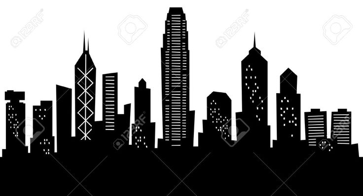 Cartoon Skyline Silhouette Of The City Of Hong Kong China