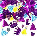 Bord konfetti til prinsesse fødselsdagen.