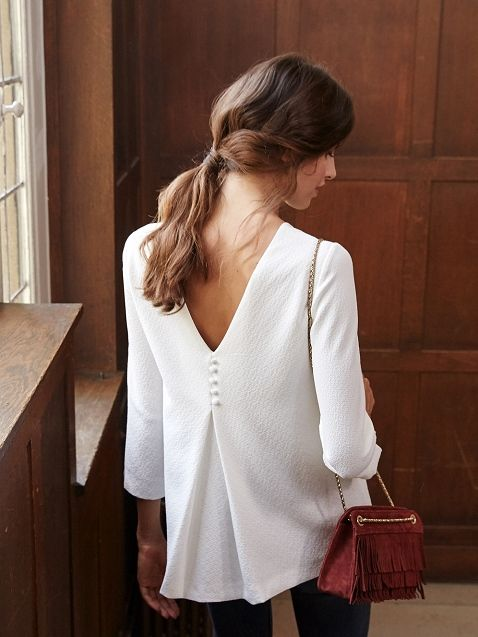 Collection Automne / Moodboard 1 - The Walk Blouse Brendan www.sezane.com #sezane #collection #automne #moodboard #thewalk #new