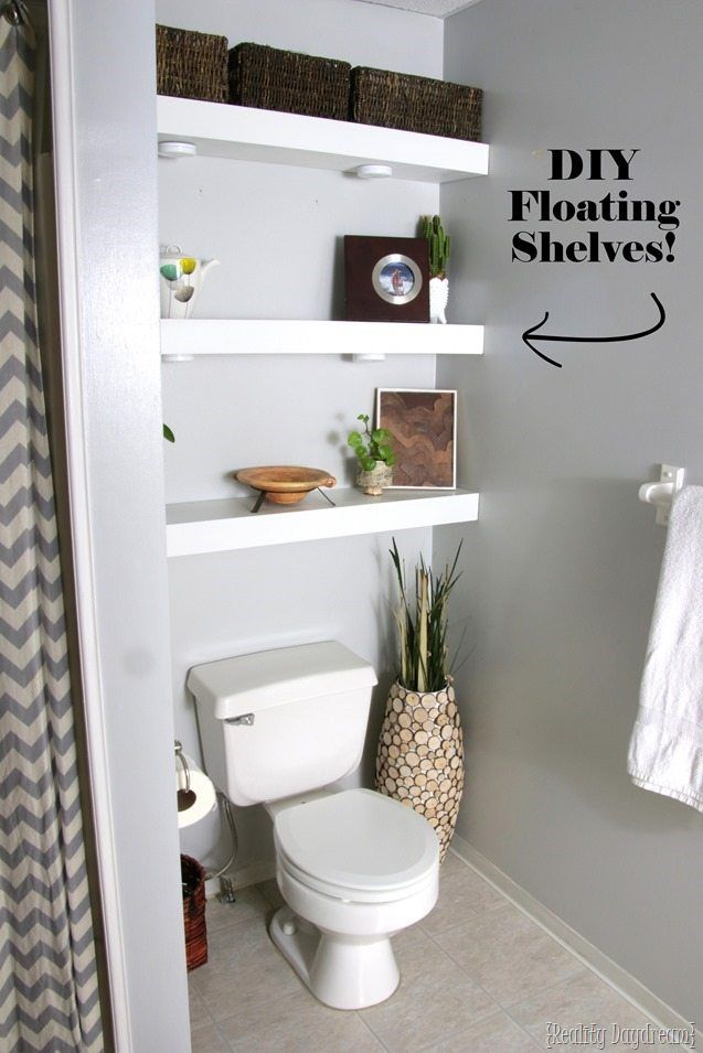 How To Build Diy Floating Shelves Reality Day Dream Floating Shelves Floating Shelves Diy Floating Shelves Bathroom