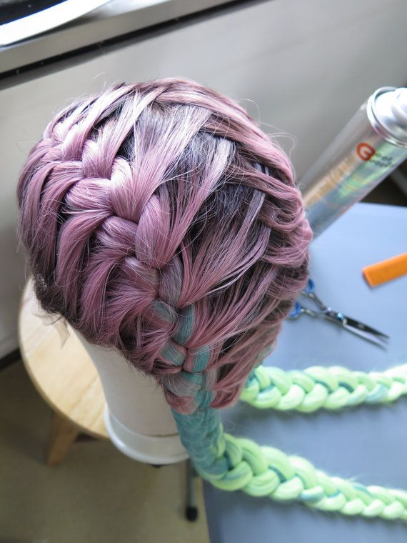 Hand Braided Styled Rainbow Kylie Jenner Lace by JudysUniqueHair