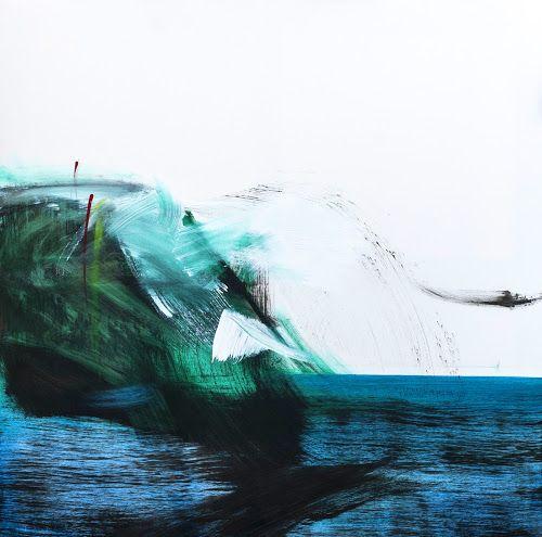 """Morze i @Gdynia na jednym obrazie. A. Kosmala """"Klif w Orłowie"""" z cyklu Lapidarium: http://www.alesztuka.com/agata_kosmala/lapidarium_08__klif_w_orlowie_ …"""