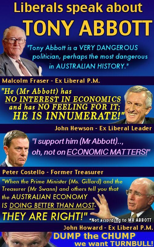 If this is not enough to convince the LNP diehard that ABBOTT is a lemon. Nothing will #auspol