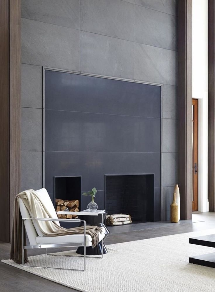 Contemporary Fireplace Less Is More Pinterest