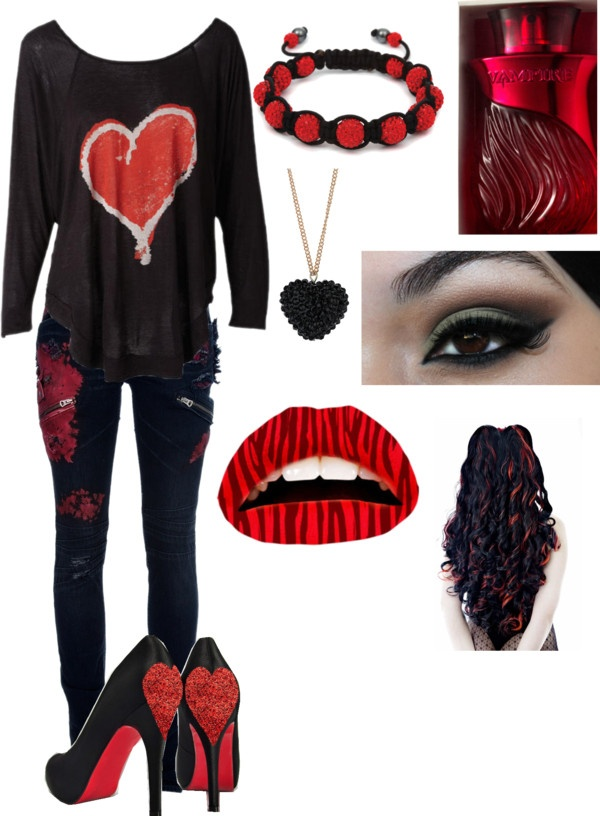 """casual vampire outfit"" by vampireloversforlife ❤ liked on Polyvore"