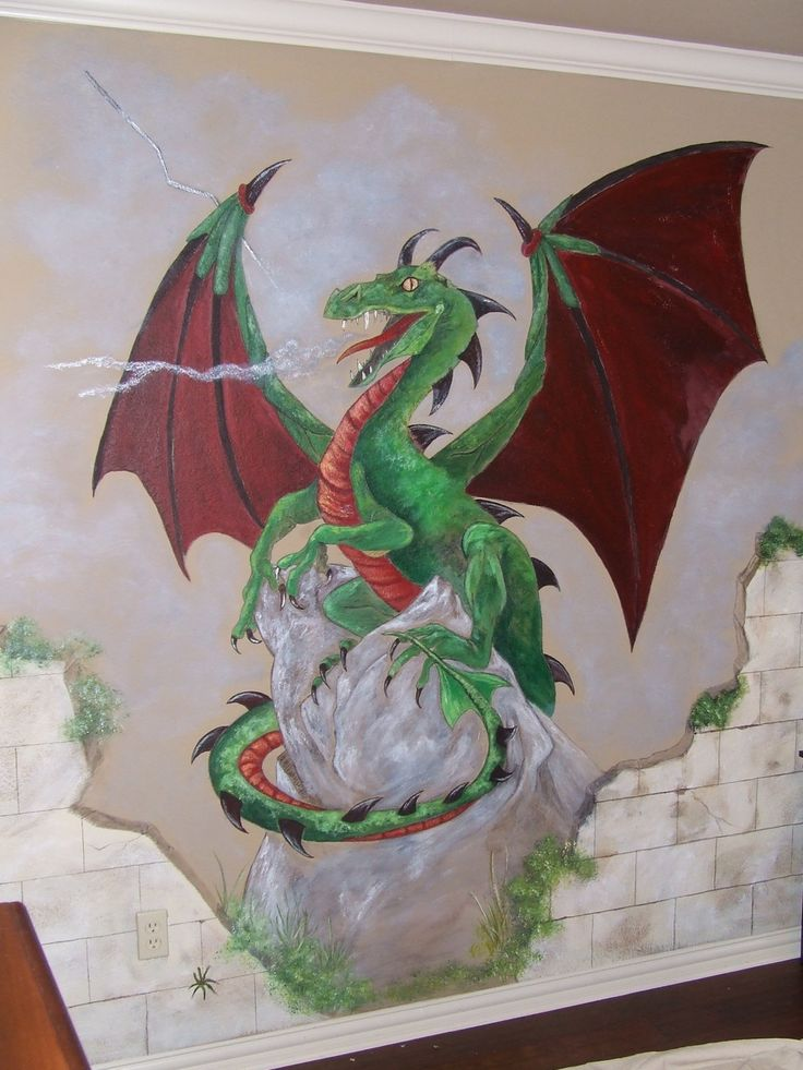 Dragon Mural Products I Love Pinterest Dragons And Room