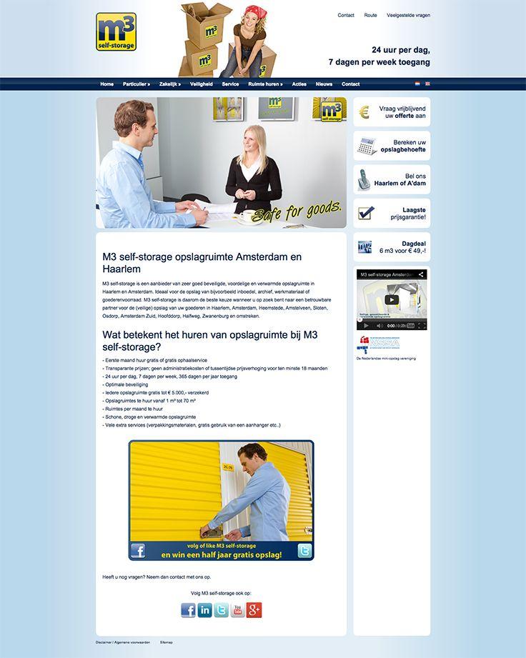 Website design voor M3 Selfstorage