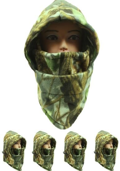 Wholesale Real Tree Camouflage Fleece Winter Ski Mask (Case of 72)
