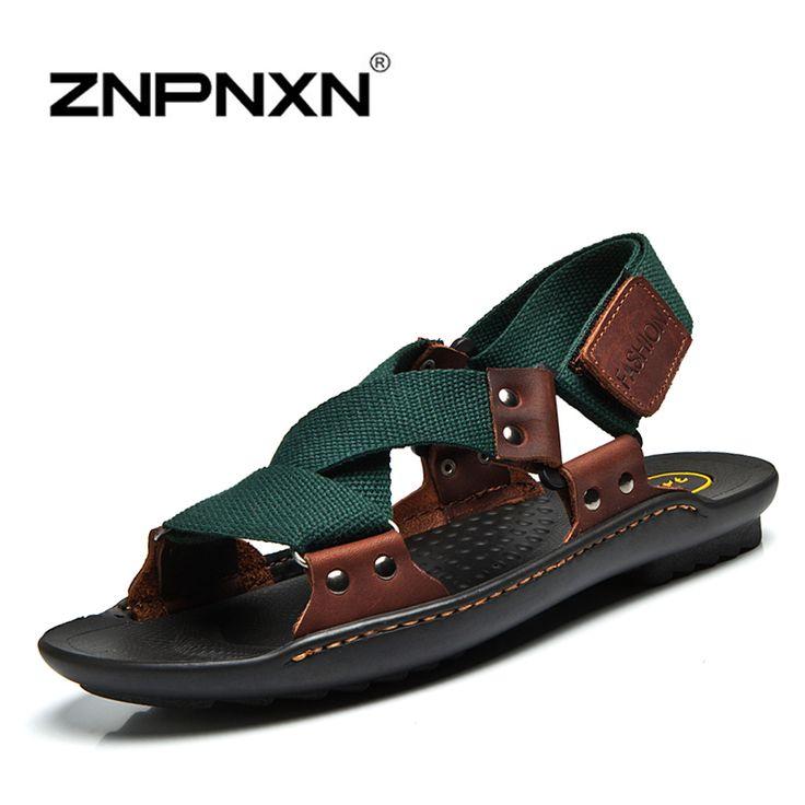 ZNPNXN Summer Sandals Men Designers Sandalias Hombre Beach Shoes Men'S Sandals…