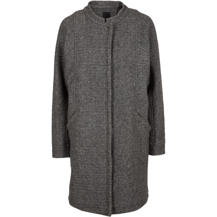 Gaia wool jacket #jacket #winter #wool #pressstuds #elegant #grey #warm