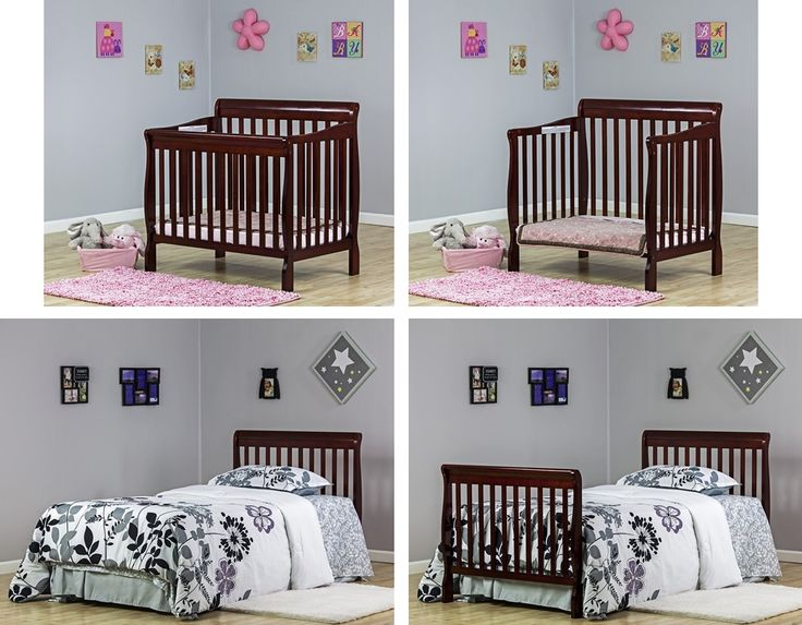 The Dream On Me 4-in-1 Aden Convertible Mini Crib is a multipurpose stylishly designed convertible crib and it can be used by your child from infancy through childhood to adulthood. It has a sturdy design and it sits low to the floor, which gives a convenience to those who have trouble with cribs that are high.