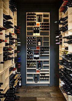 Small, contemporary wine cellar design - Decoist
