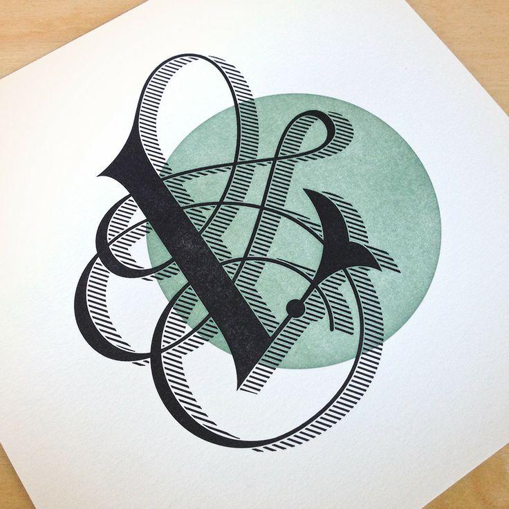 Letterpress Print // Daily Drop Cap prints by designer Jessica Hische #alphabet #type