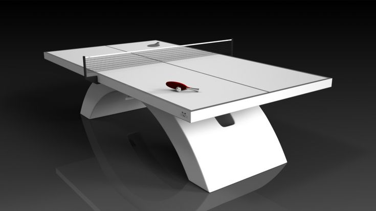 Zenith Table Tennis. White. The Zenith table can be customized in your choice of bespoke sizes, colors, and finishes. Upon request, we also offer the option to add slender drawers on each side in order to provide concealed storage for table tennis paddles and ping pong balls.