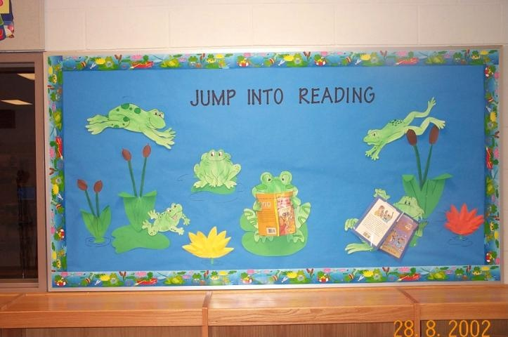 Spring (frog) bulletin board  Jump into God's Word