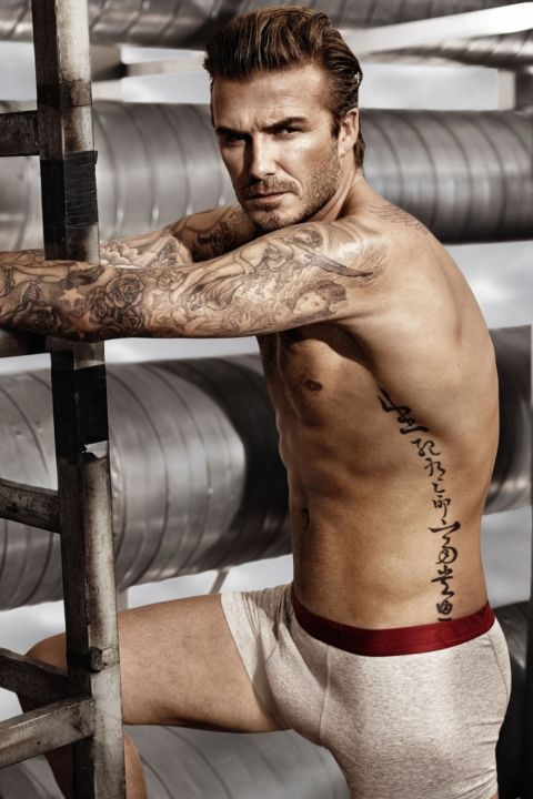 David Beckham In His H&M Pants For His Campaign- Swoon, 2014