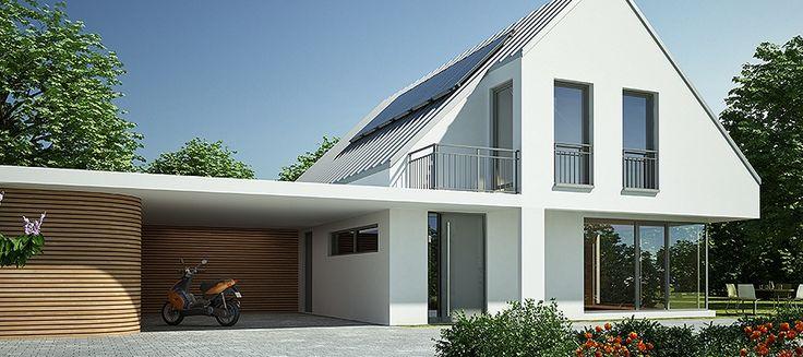 Haus Satteldach modern