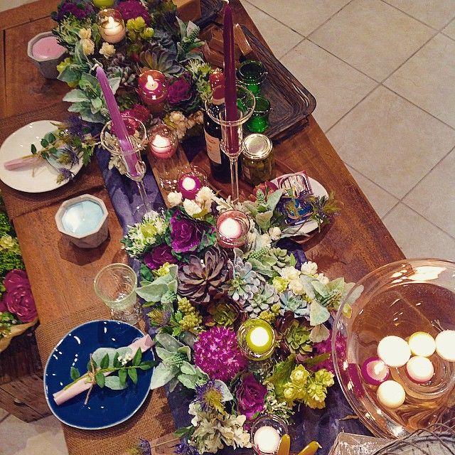 goodevening... #kameyamacandlehouse #カメヤマキャンドルハウス#alfresco #glamping #アルフレスコ#グランピング#ガーデンウェディング#ガーデン#gardenwedding#テーブルコーディネート#フローティングキャンドル#キャンドル#candle #ディナー#dinner#多肉植物#フラワー#artificialflower #プレ花嫁#プレ花嫁キャンドル演出 #テーパーキャンドル#プレート#dish#デニム#インテリア#interior