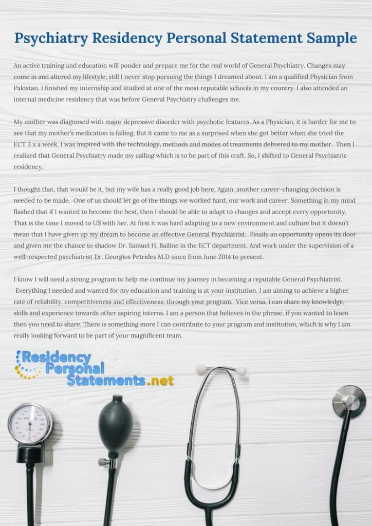 Pin by Residency Personal Statements Samples on Psychiatry