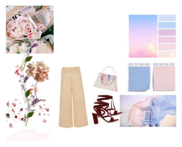 """""""baby pink and blue"""" by ivanaputri on Polyvore featuring Gianvito Rossi, C/MEO COLLECTIVE and Ted Baker"""