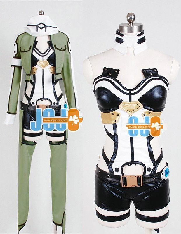 Sword Art Online 2 Phantom Bullet Cosplay Dresses Gun Gale Onlin Sinon Cosplay Costume Gun Gale Online Cosplay Costumes Japan Anime, $130.9 | DHgate.com