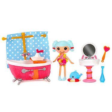 ¡El playset de Marina Anchors es perfecto para salpicar por todas partes! Su bañera, lavabo y accesorios de baño dejarán a todos absolutamente limpios