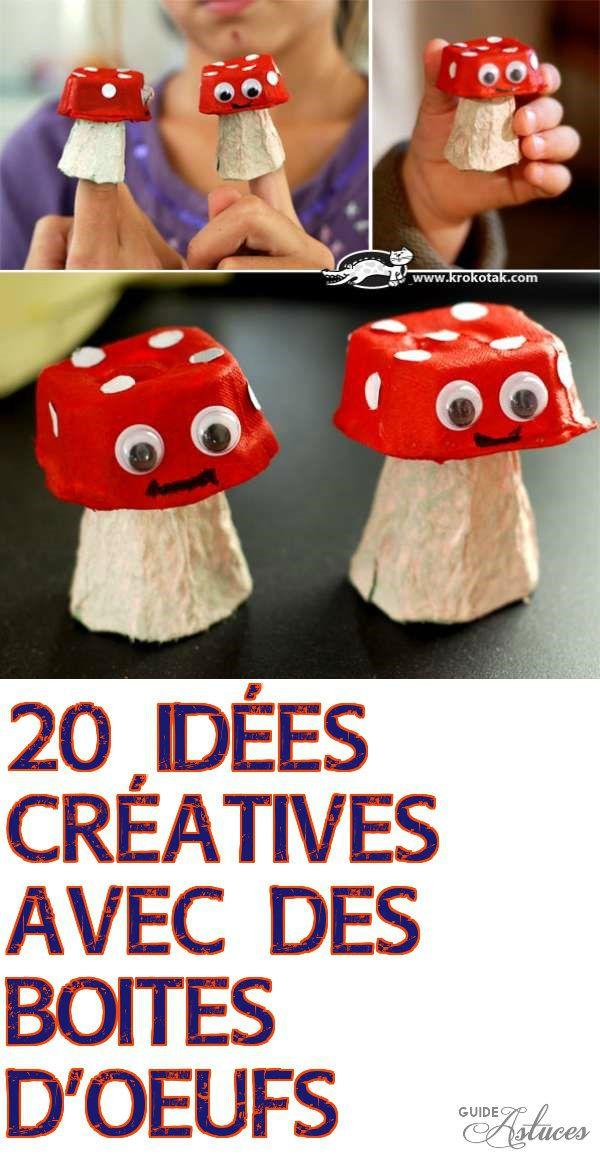 20 idées créatives avec des boites d'oeufs