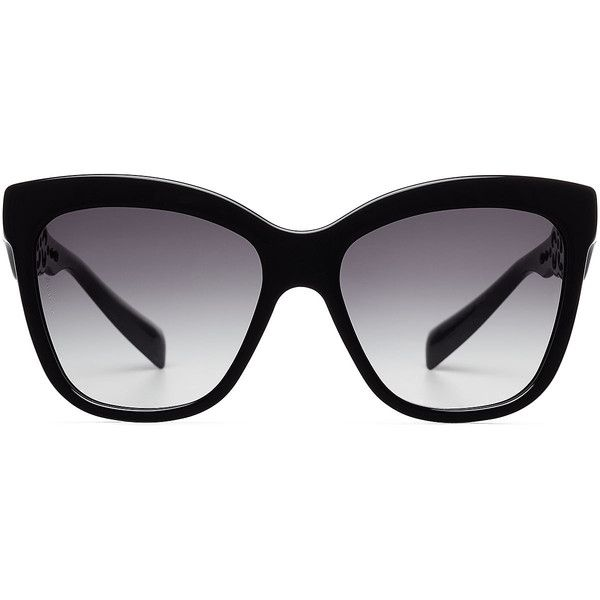 Dolce & Gabbana Oversize Sunglasses (154.450 CRC) ❤ liked on Polyvore featuring accessories, eyewear, sunglasses, glasses, occhiali, black, dolce&gabbana, over sized sunglasses, oversized black sunglasses and logo sunglasses