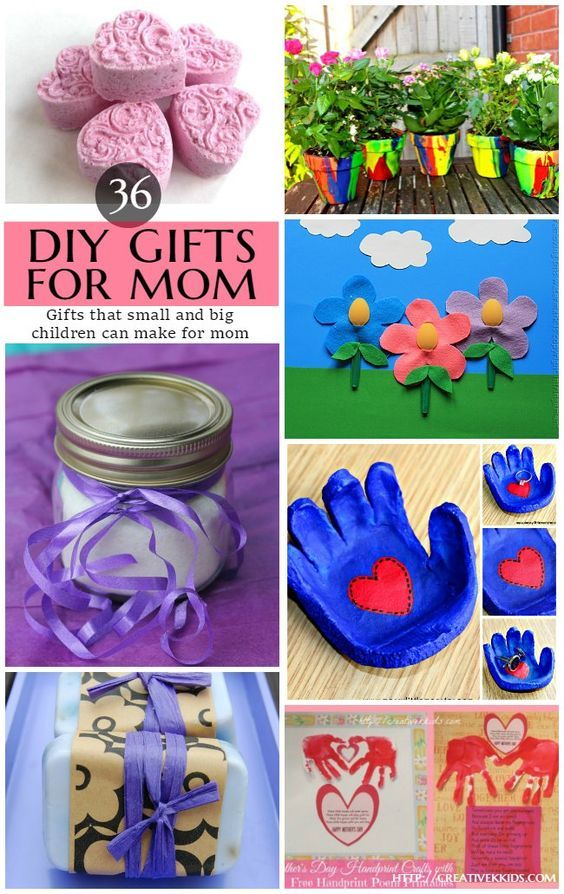 36 DIY Crafts and Gifts Kids of all ages can make for Mother's Day