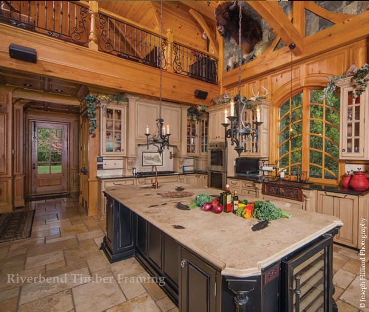 Open Heart Kitchen: A Beautiful Open Kitchen From Riverbend Timber Framing