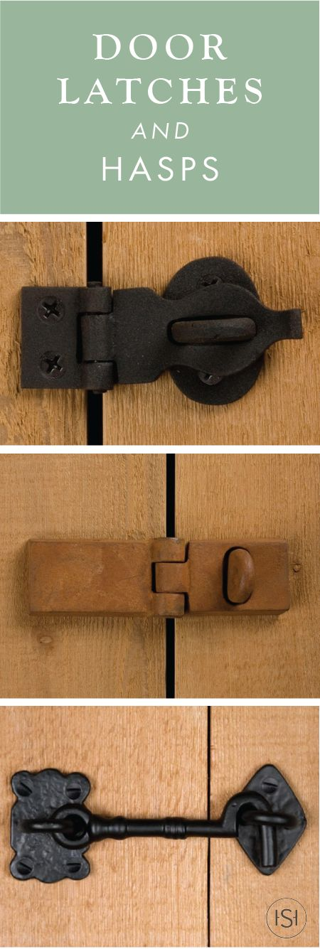 Perfect for using on your pocket doors or small hatch, this collection of Door Latches and Hasps from Signature Hardware will add style and function to your DIY remodel. Great for replacing old hardware, these hooks and clasps have antique designs as well—so you can be sure to match the style of your home.
