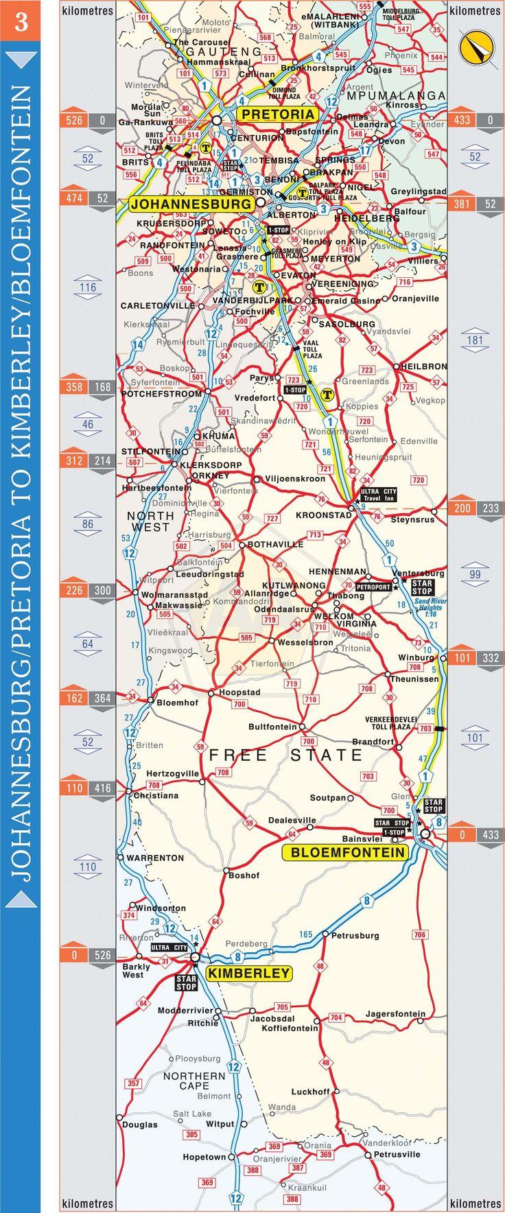 Johannesburg / Pretoria to Kimberley / Bloemfontein | Automobile Association