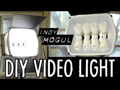 How-to: Powerful DIY video light (800 watt equivalent) - YouTube  $86 cost