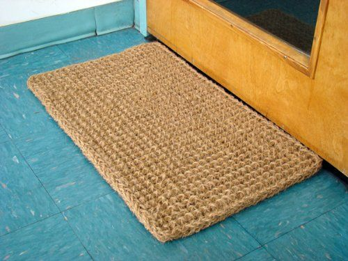 AmazonSmile : Kempf Rectangle Dragon Coco Coir Doormat, 18-inch by 30-inch : Jute Door Mat : Patio, Lawn & Garden