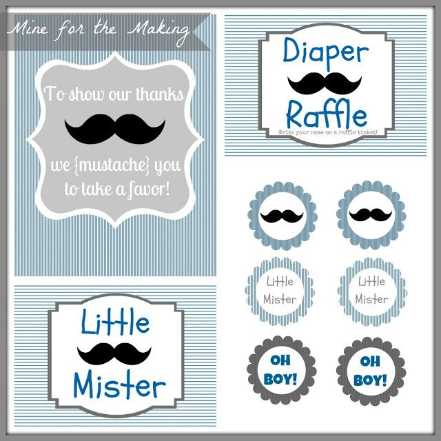 Mine for the Making Little Mister Mustache Bash {party prints} » Mine for the Making