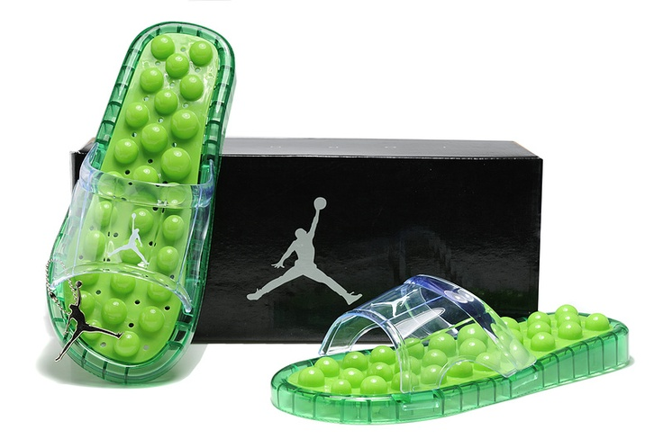 2012 Women Air Jordan Massage Slippers Shoes Green