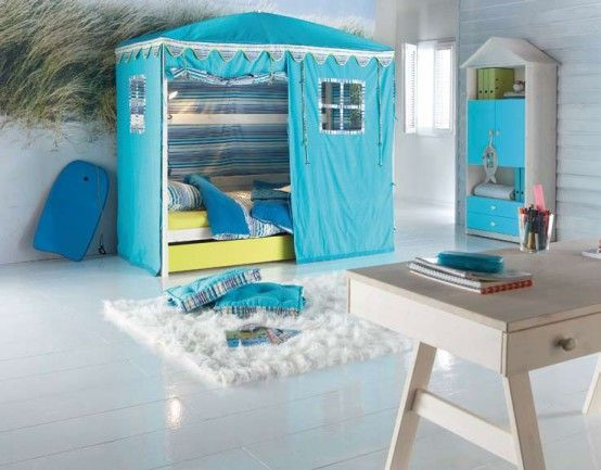 Granny can sew pretty well - how easy to convert a whole kids room into something magical like this!