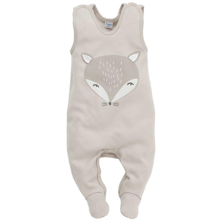 Śpioszki z Liskiem - Smart Fox / Beżowe, PINOKIO, Sklep z wyjątkowymi artykułami dla niemowląt i dzieci – oferujemy produkty naturalne, nowoczesne i designerskie. Zapraszamy na zakupy!