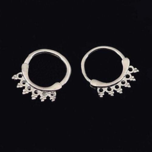 Stainless-Steel-Septum-Clicker-Hexagonal-Flower-Hinged-Bull-Nose-Ring-Mars-US