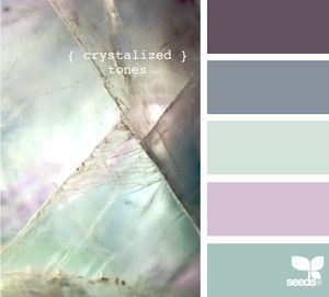 This is someone else's color scheme, but my eye is drawn to the iridescent tiles.