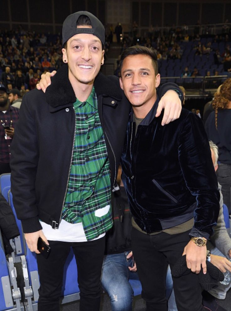 Mesut Özil and Alexis Sanchez. Not pictured: Me harassing them to sign new contracts