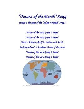 Oceans of the Earth Song