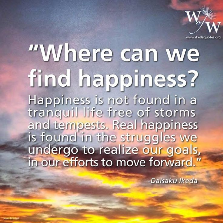 Where can you find happiness
