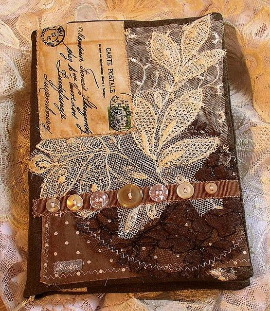 Handmade Fabric Book Covers : Best images about art altered books journals on