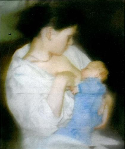 S. with Child - Gerhard Richter Style: New European Painting Genre: figurative painting