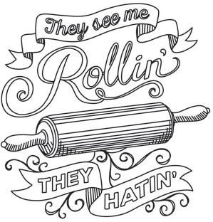 spice it up they see me rollin_image great embroidery idea - Bakers Gonna Bake Kitchen Redwork Embroidery Designs