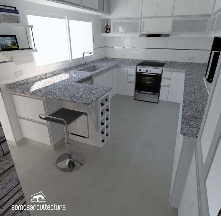 Cozinha em U ou em L? Qual seria o melhor formato para a sua cozinha? https://www.homify.pt/livros_de_ideias/3354980