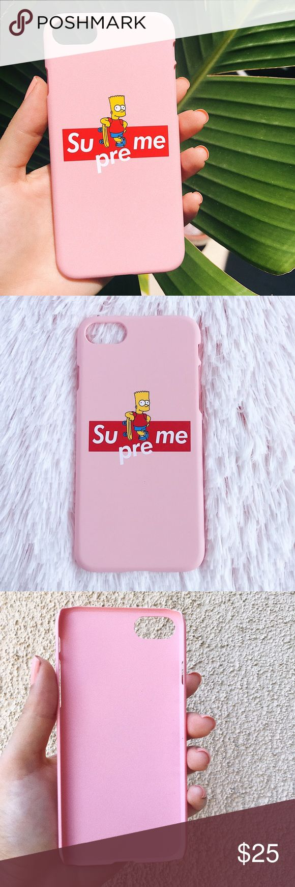 Bart simpson supreme iphone 7 case Brand new! Bart simpson supreme case matte finish plastic and snaps on   ⭐️Bundle & Save!⭐️ Comes with free stickers ️️ Accepted ! ✅Dpop, PP,  I ship same day or next day I don't ship sat after 12pm or sunday ❌lowball offers will be declined no trades! Supreme Accessories Phone Cases