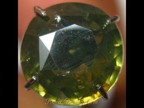 Batu Mulia Natural Zircon Round Cut Greyish Green 2.87 carat